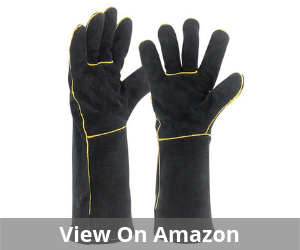 Welding Gloves HEAT RESISTANT Cow Split Leather Welding Gloves